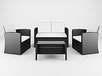 Садовая плетенная мебель Ротанг CASELLA black, для дома, сада, кафе и ресторанов, Львов