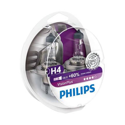 Автомобильные лампы Philips Vision Plus H4 +60%, фото 2