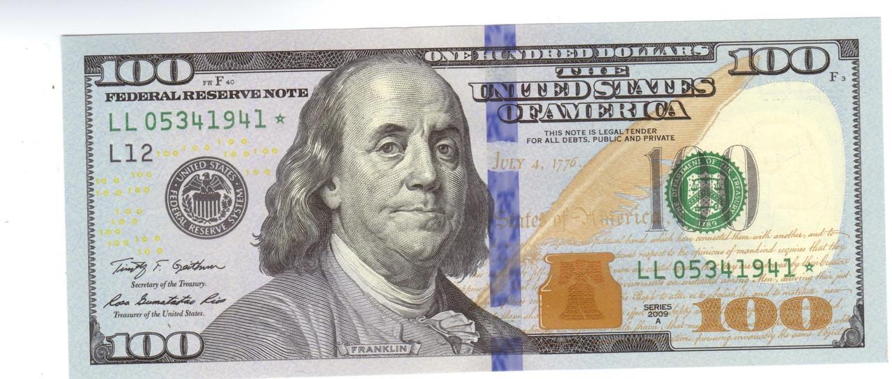 фото 100 долларов нового образца