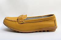Мокасины кож. 6997-6 желт., р.36,38,39