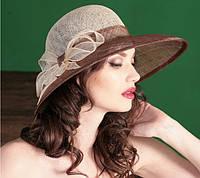 Шляпа на лета из натуральной соломки сизаль