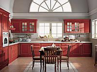 Кухня красная патинированная Велиа
