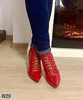 Женские туфли плетенка,красный лак,размеры р.37,38,39,40
