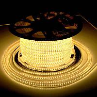 LED лента Biom 220V SMD3014 120led/m 7W IP68 Теплый белый (бобина 100м)
