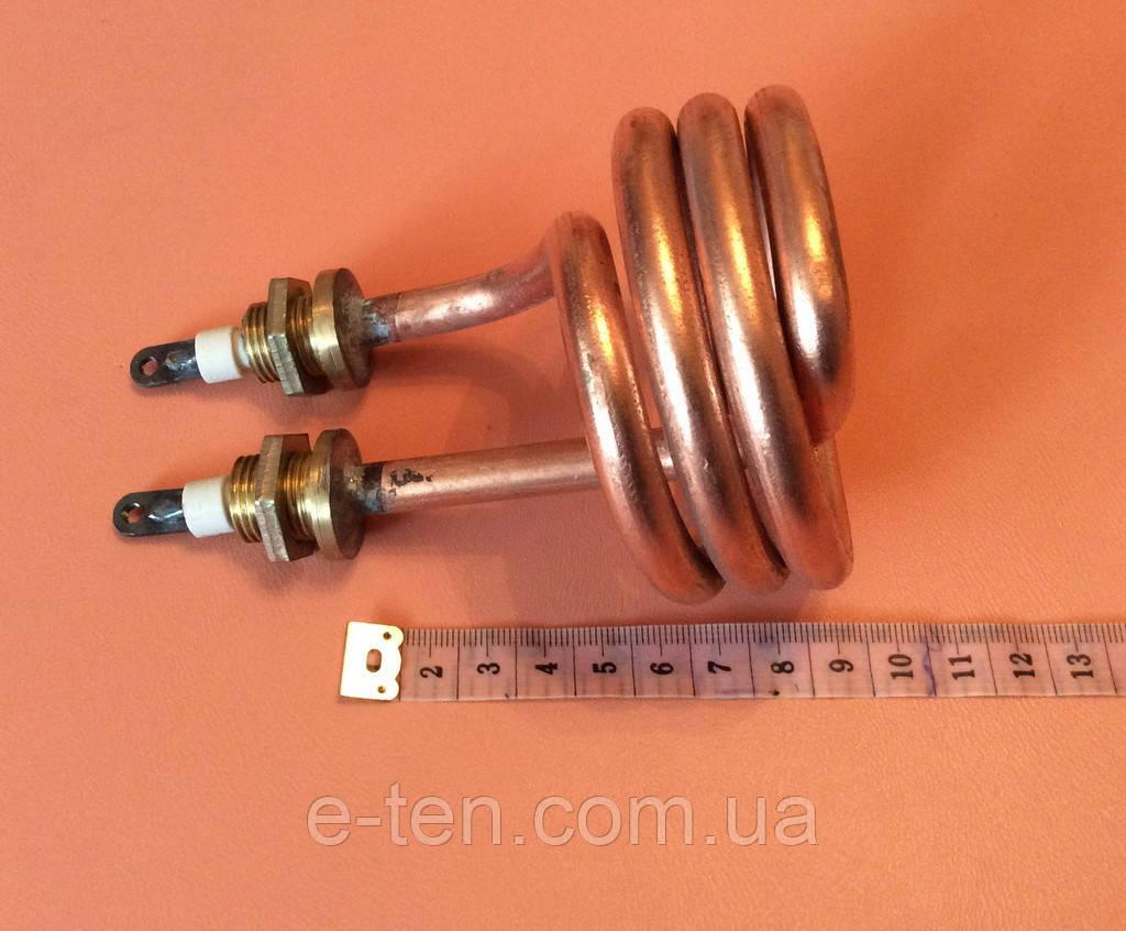 Тэн дистилляторный медицинский 2500Вт (спиралевидный) / 220B / медный ( на латунных штуцерах Ø16мм )  Украина
