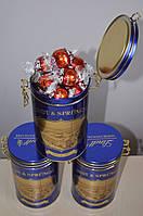 Швейцарский шоколад Lindt Lindor в оригинальной метал. банке с зажимом. Швейцария