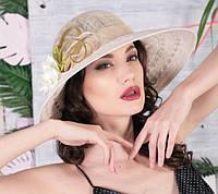 Шляпа  на лето  из натуральной соломки синамей