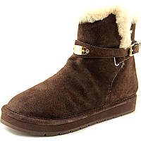 Женские зимние замшевые коричневые сапоги угги американского бренда Michael Kors оригинал натуральный мех