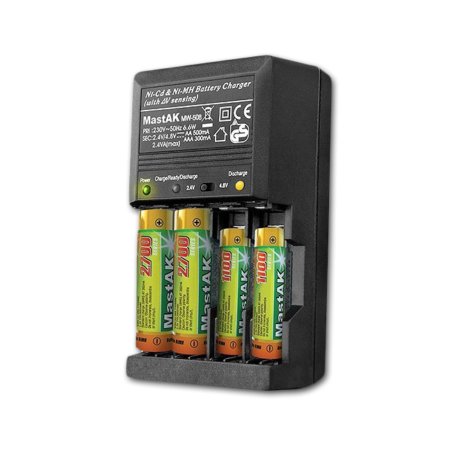 Автоматическое зарядное устройство MastAK MW508 AA, AAA