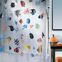 Шторка для ванной виниловая Spirella FISH 180х200