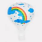 """Бумажный декор для праздника """"Воздушный шар"""" красный с белым, фото 5"""