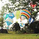 """Бумажный декор для праздника """"Воздушный шар"""" красный с белым, фото 7"""