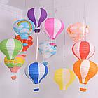 """Бумажный декор для праздника """"Воздушный шар"""" красный с белым, фото 8"""