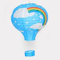 """Бумажный декор для праздника """" Воздушный шар"""", голубой"""