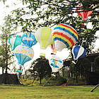 """Бумажный декор для праздника """"Воздушный шар"""" красный с белым, фото 9"""