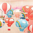 """Бумажный декор для праздника """"Воздушный шар"""" красный с белым, фото 10"""