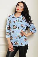 Красивая и стильная рубашка в цветочный принт больших размеров
