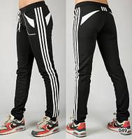 Спортивные трикотажные штаны женские  (черные)
