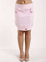 Юбка-бочонок молодежная розовая Ю65