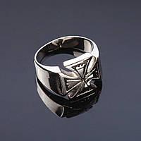 Кольцо перстень мужск. Кельтский крест р-р 18-21 серебристый