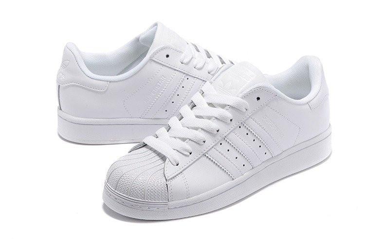 Adidas Superstar Оригинал Supercolor All White Trainer женские/подростковые кроссовки
