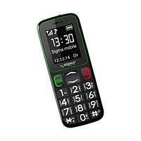 Мобильный телефон Sigma mobile Comfort 50 mini3 Black-Green 'бабушкофон' / 2 Sim / дисплей 1.77' цветной (128x160) / моноблок/MTK6261/ поддержка