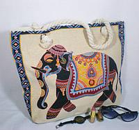 Текстильная модная сумка с оригинальным рисунком