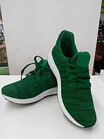 Спортивные женские кроссовки-сетка зеленые на белой подошве 38р.