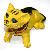 "MASTER GAME - Динамическая игрушка на торпедо, желтый котик ""Кетька"", Yellow"