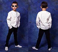 """Детский стильный комплект брюки + рубашка 826 """"Лён Хулиганка"""" в расцветках"""