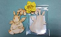 """Заготовка для декора """"Заяц с цветком"""", 6,5*10 см, SANTI 741261"""