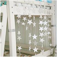 Гирлянда со звездочками для праздника и декора, 4 метра серебро