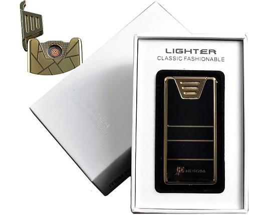 """Спиральная USB-зажигалка """"Hengda"""" №4782-3, отличная идея для подарка, спираль накаливания, фото 2"""