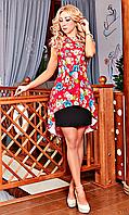 """Коктейльное платье """" Энджи """" малинового цвета"""