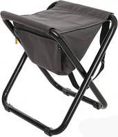 Компактный стул складной мягкий Кенгуру, темно-серый, сталь/текстилен, максимальная нагрузка 120 кг
