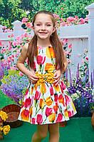 """Детское платье """"Сакура""""  р. 116-134 лет"""