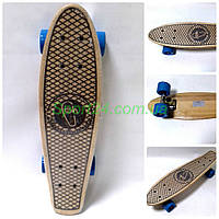 Деревянный пенни борд 22 Фиш Blue (penny board fish)