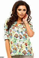 """Женская рубашка """"Цветы""""  24389 КТ-1280"""