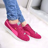 Кроссовки криперы женские Puma Suede розовые, спортивная обувь