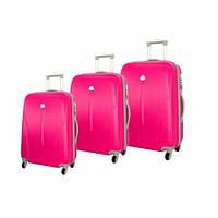 Чемодан сумка 882 XXL набор 3 штуки розовый