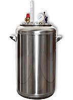 Газовый бытовой автоклав А-32 для консервирования, диаметр 32 см, высота 60 см, пищевая нержавейка