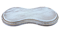 Ретро подрозетник дуб беленный золотой патиной-2 паст