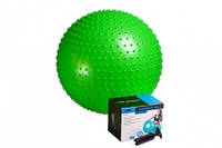 Мяч гимнастический - фитбол с шипами  PowerPlay  65см + насос, фото 1