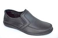 Туфли мокасины мужские удобные популярные черные 2016. Со скидкой
