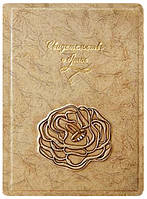 """Папка для  свидетельства о браке """"Роза"""" (кожа)"""