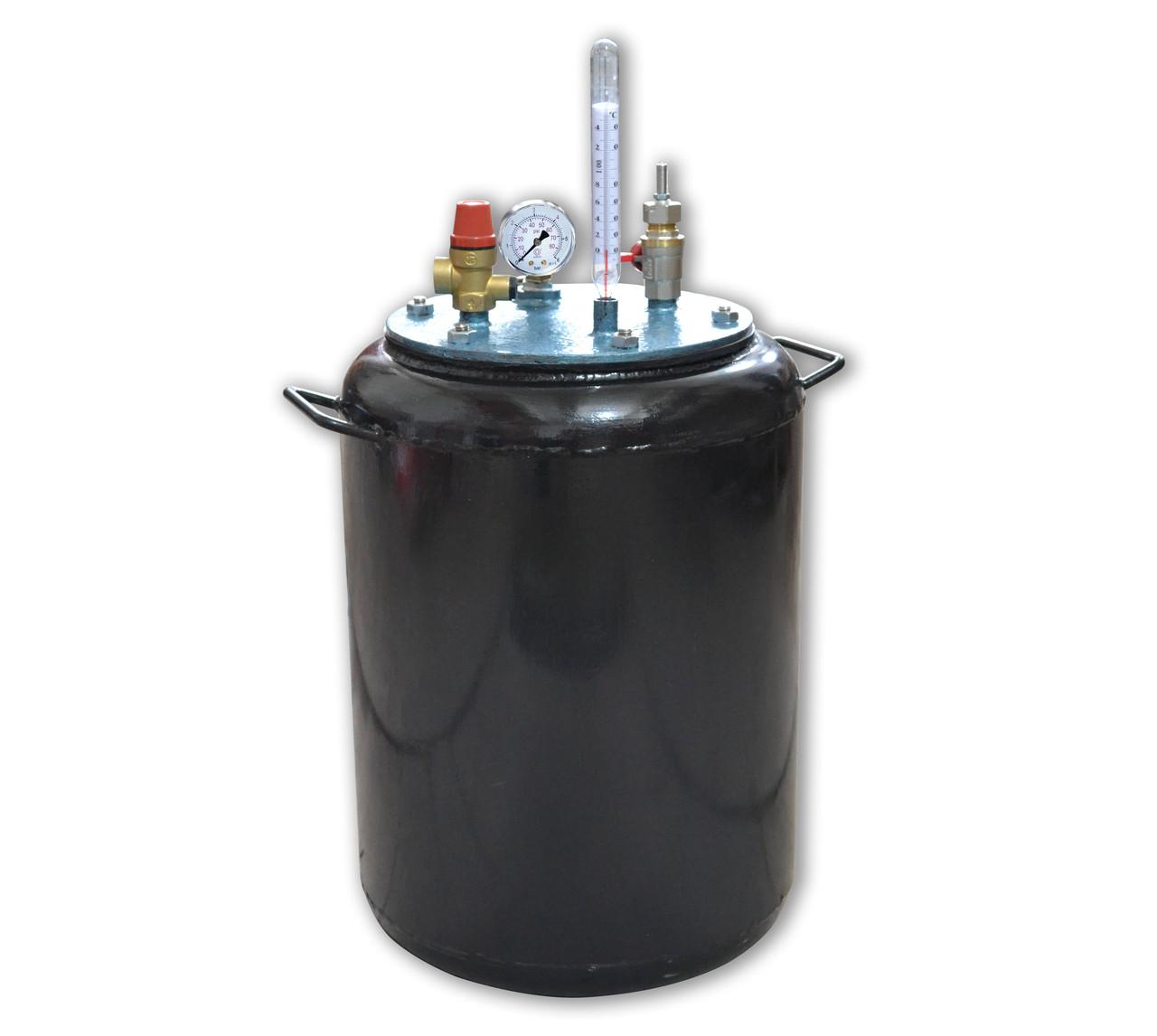 Автоклав газовый Утех-24, черный металл, стенки 2,5 мм, вместимость 24 банки, сборник рецептов  - Сто грамм в Киеве