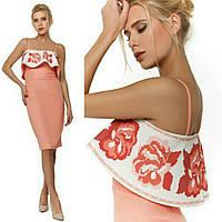 Стильна коктельна сукня з воланом, фото 1