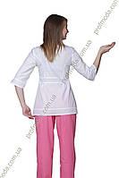 Жакет ж Поліна 44-170 сорочечна білий П 3\4