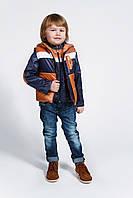 Куртка и жилетка для мальчика, демисезонный комплект оптом, фото 1