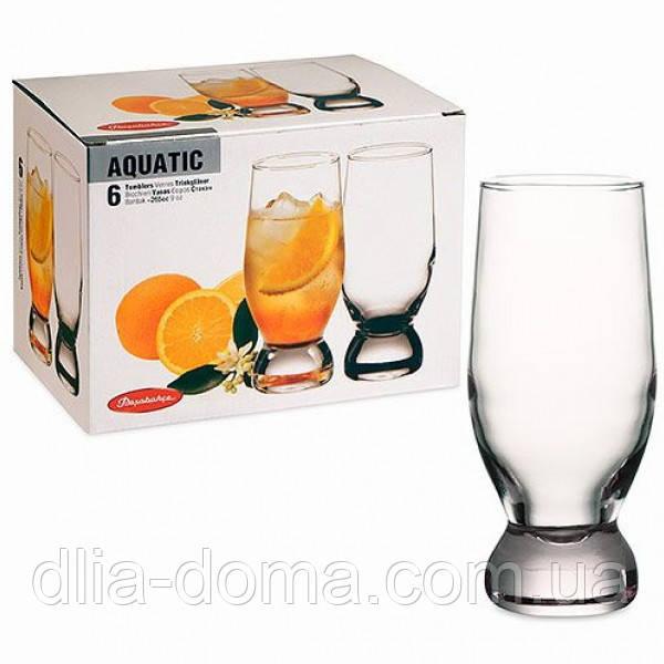 Набор стаканов из стекла 6 шт Акватик